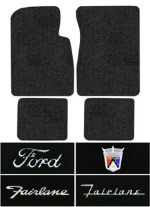 1957 1958 Ford Fairlane Floor Mats 4pc Loop