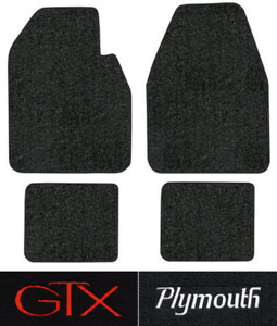 1967 1970 Plymouth Gtx Floor Mats 4pc Loop Fits Auto