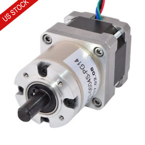 14 1 Planetary Gearbox Nema 16 Geared Stepper Motor 0 6a 3d Printer Cnc Robot