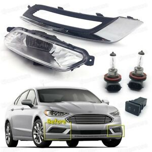 Oem Fog Lights Driving Lamps Cover Switch Kit For Ford Fusion Sedan 2017 2018