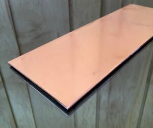1 8 Copper Sheet Plate New 4 x12 125 Thick custom 1 8 Sizes Available