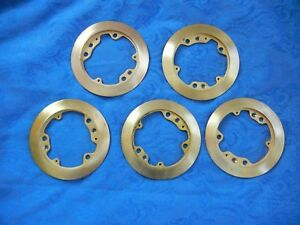 5 Used Hubbell Wiring Device kellems Brass Floor Carpet Flange S3182 Great Deal