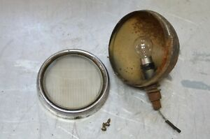 Vintage Dome Turn Signal Backup Running Fog Light Clear Glass 3 Post Mount