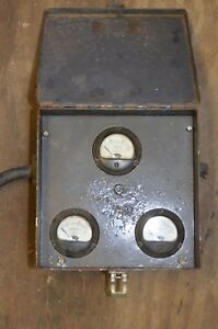Vintage Weston 0 30 A c Amp Meter Gauge Model 204 0 300v Steampunk Fused Panel