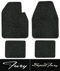 1962 1969 Plymouth Fury Floor Mats 4pc Loop Fits Auto