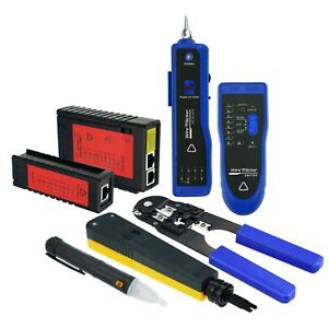 Diagnostic Tool Kit Set Network Cable Tester Ethernet Lan Wire Voltage Detector