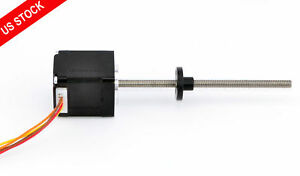 Nema 11 Stepper Motor External Linear Actuator 0 75a Lead Screw Length 100mm