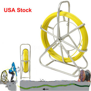 Usa 130m Fish Tape Fiberglass Wire Cable Running Rod Duct Rodder Fishtape Puller