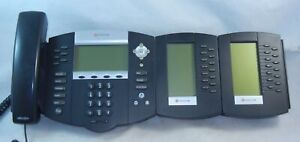 Polycom Soundpoint Ip 650 Sip Digital Poe Phone Working W 2 X Ip Bem Ex Module