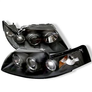 Spyder Auto 5010445 Halo Projector Headlights Fits 99 04 Mustang