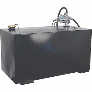 Better Built 100 Gal steel Transfer Fuel Tank W gpi 12v 8gpm Pump rectangular