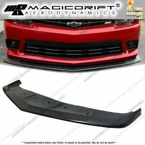 For 14 15 Chevy Camaro V8 Ss As Style Front Bumper Lip Chin Splitter Valance