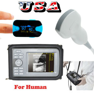 Usa Portable Digital Ultrasound Scanner Machine Convex Probe Oximeter Warranty