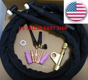 Us Seller Wp 17v 12ft 150a Air cooled Tig Welding Torch With Gas Valve