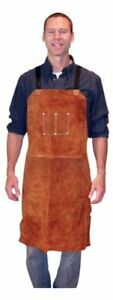 Tillman 3836 Leather Bib Apron 24 X 36 Dark Brown