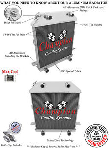 2 Row 1 Rs Champion Radiator For 1940 1941 Ford Standard Flathead Config