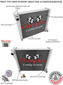 3 Row Rs Champion Radiator For 1941 Jeep Willys