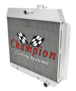 2 Row Rs Champion Radiator For 1949 1954 Chevy Cars Inline 6 Cylinder Engine