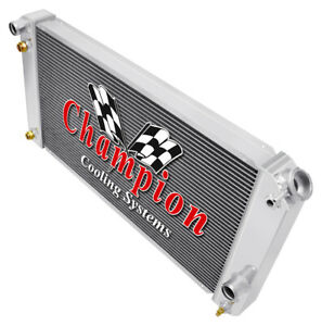 3 Row Rs Champion Radiator For 1986 2005 Chevy S10 Chevy V8 Conversion