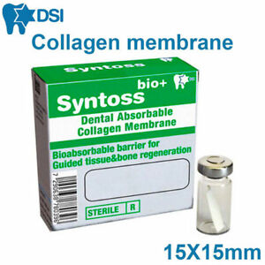 Resorbable Collagen Membrane Surgical Barrier Absorbable Dental Implant 15x15mm
