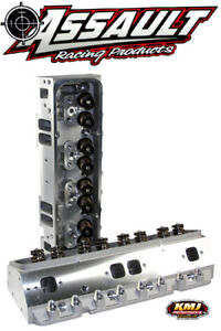 Sbc Chevy Aluminum Cylinder Heads Complete Sp 205cc 64cc 550 Springs 3 8 Studs