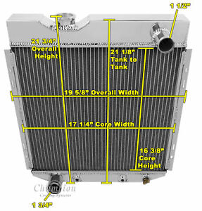 4 Row Rs Champion Radiator For 1965 1966 Ford Mustang V8 Engine Swap
