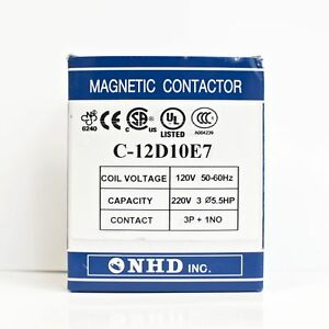 Nhd C 12d10e7 Magnetic Contactor For 5 5hp Motor 120v Coil Normally Open