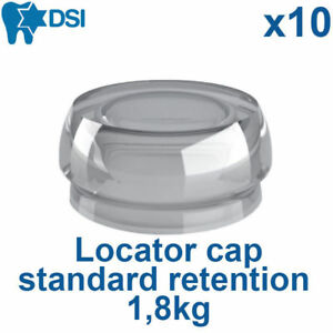 10 Clear Implant Locator Flat Abutment Silicone Female Insert Cap Standard