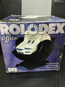 Rolodex Office Open Rotary Card File W 500 2 1 4 X 4 Inch Cards Swivel Fs Blk