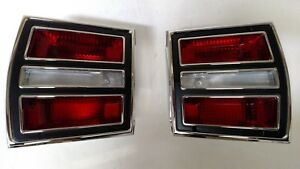 1968 Dodge Dart Brake Light Taillight Lens Bezel Assemblies 68 Lamp Lenses