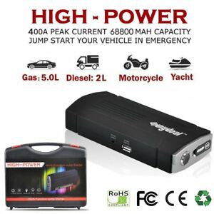 Car Jump Starter Portable Power Bank Battery Charger Booster Jumper Cables 12v