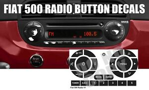Fiat 500 Radio Stereo Button Decals 2003 2015 Us Made Sold