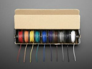 Hook up Wire Spool Set 22awg Solid Core 10 X 25ft