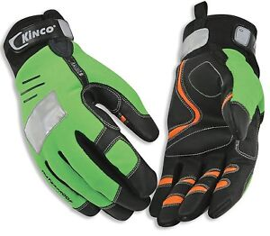 Kinco 2051hv l 1 High visibility Green Mirahv1 Orange Synthetic Leather Palm L