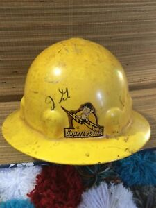Vintage Superlectric Fibre Metal Hard Hat Construction electrician