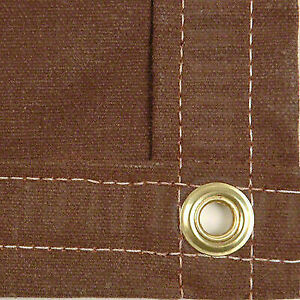 Sigman 12 X 20 Heavy Duty Cotton Canvas Tarp 18 Oz Brown Made In Usa New