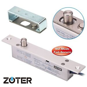 No Mode Dc 12v Zoter Deadbolt Strike Electric Drop Bolt Timer Door Lock
