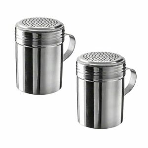 10 Oz Stainless Steel Dredge With Handle pack Of 2