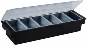 Winco Cch 6 6 compartment Condiment Holder Set Of 6