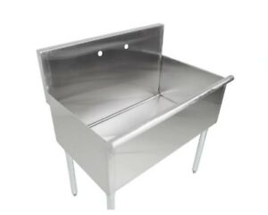 Regency 36 16 gauge Stainless Steel One Compartment Commercial Sink