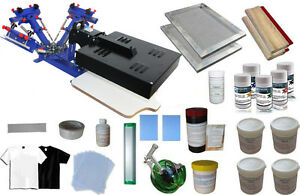 3 Color Silk Screen Printing Kit 1 Station 1 Flash Dryer Printer