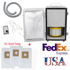 Us Dental Digital Dust Collector Collecting Vacuum Cleaner Motor Extra Dust Bags