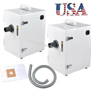 2x Us Dust Collector Vacuum Cleaner Digital Collecting F Dental Lab Industry Ce