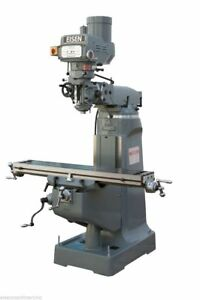 Eisen S 2a 9x49 Milling Machine 3hp Bridgeport style Free X axis Powerfeed