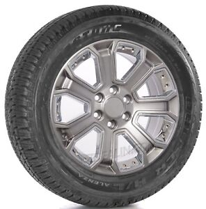 Chevy Silverado Tahoe Ltz Z71 20 Hyper Silver Chrome Wheels Bridgestone Tires