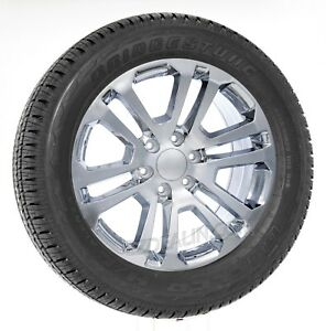 Chevy Silverado 20 Split Spoke Chrome Wheels Tires Z71 Tahoe Suburban Ltz Rims