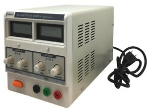 Velleman Labps3003u Dc Lab Power Supply 0 30 Vdc 0 3 A Max With Dual Lcd