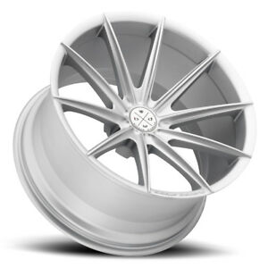 22 Blaque Diamond Bd11 Silver Concave Wheels Rims Fits Chrysler 300 300c 300s