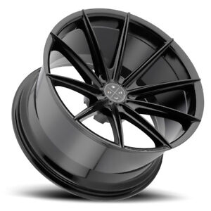 20 Blaque Diamond Bd11 Black Concave Wheels Rims Fits Jaguar Xkr