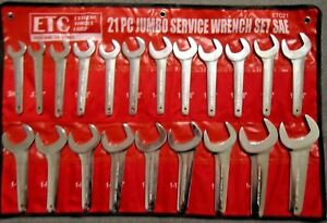 Sae 21 Pc Line Service Wrench Set Extreme Torque Open End Aviation Jumbo Inch 2